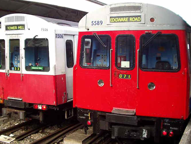 District line tube trains