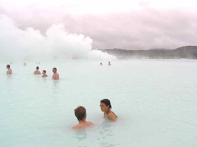 Swimming in the Blue Lagoon Iceland