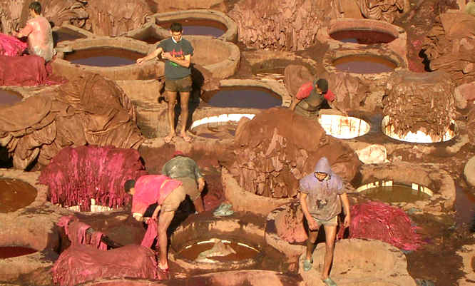 Leather tannery in Marrakech