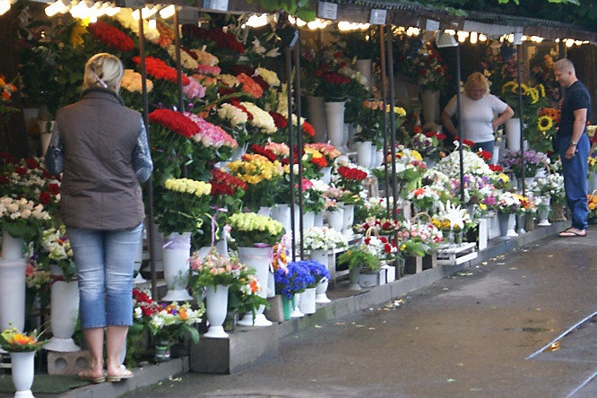 Flower Market in Riga