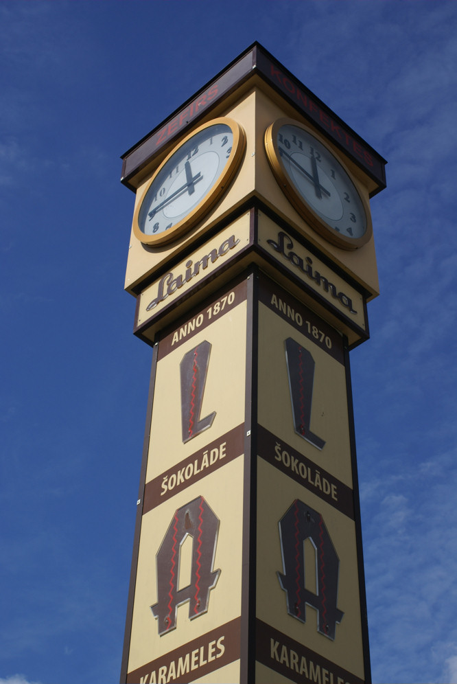 Laima chocolate clock tower