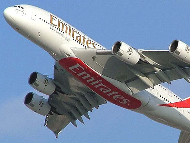 Emirates A380 flight