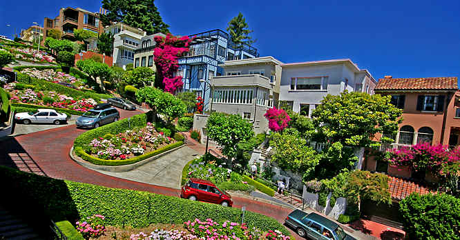 Bien connu Lombard Street San Francisco California city break Travel Guide Tips SX93