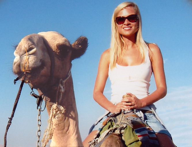 Woman on Camel photo