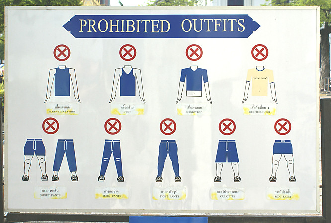Dress code in the Thai Royal Grand Palace