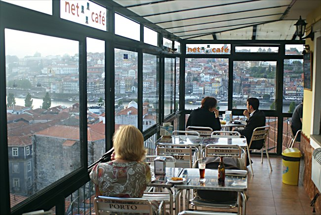 View of the Ribeira waterfront from Cafe cafe Miraporto