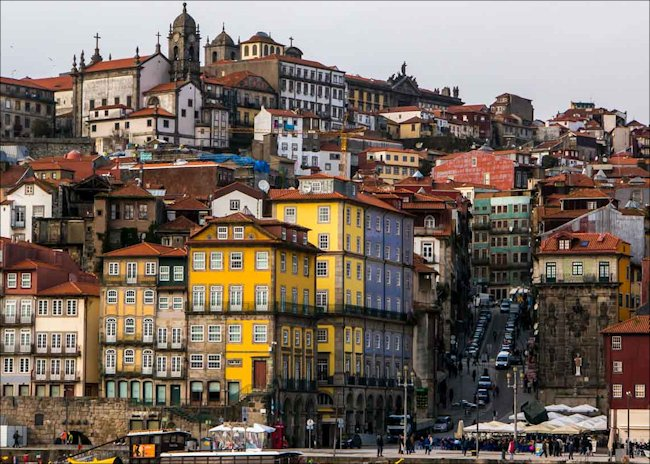 The hills of Porto are very steep