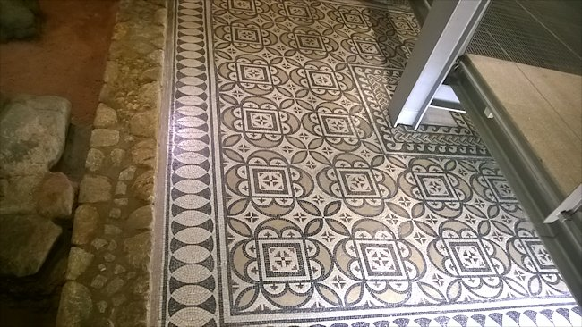 Roman mosaic found in Henry the Navigator's House Casa do Infante in Porto