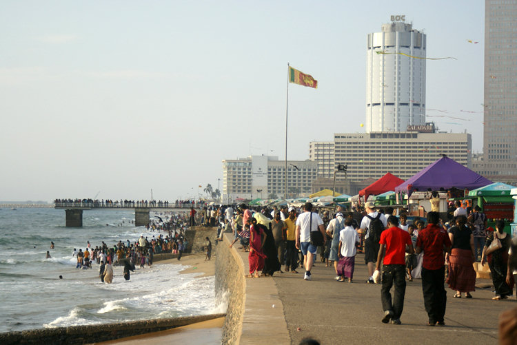 Galle Face beach front
